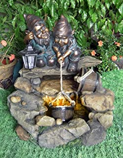 Water Gnomes Rock Water Feature Lights