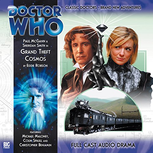 Doctor Who - Grand Theft Cosmos                   By:                                                                                                                                 Eddie Robson                               Narrated by:                                                                                                                                 Paul McGann,                                                                                        Sheridan Smith                      Length: 1 hr and 15 mins     1 rating     Overall 4.0