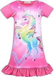 Chemise de Nuit Robe Licorne Princesse avec Volant