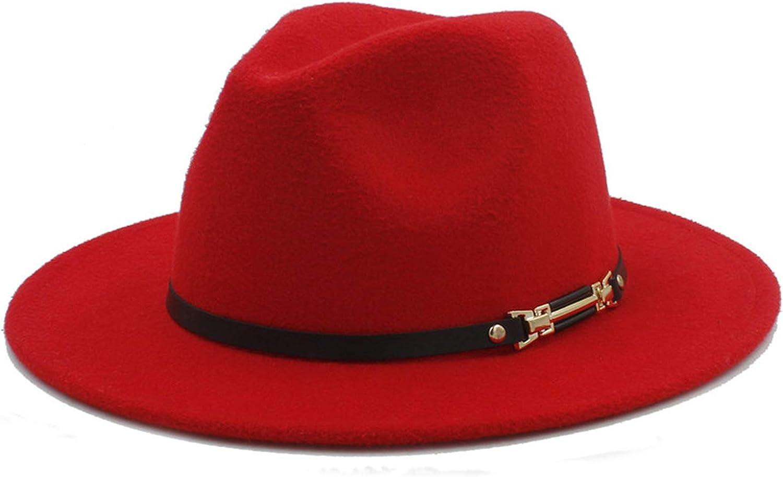 d94bab18d3d00d DOSOMI DOSOMI DOSOMI Fashion Men's Women's Wool Felt Fedora Hat Gangsters  Traditional Godfather Mafia Caps Size 56-58CM 9ad434