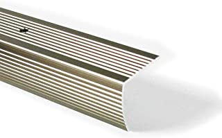 M-D Building Products 43878 M-D Fluted Stair Edging, 36 in L W X 1-1/8 in H, Aluminum, Pewter, Pack of 1,