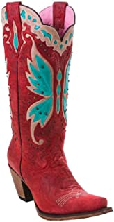 Women's by Lane Day Dreamer Strawberry Cowgirl Boot Snip Toe