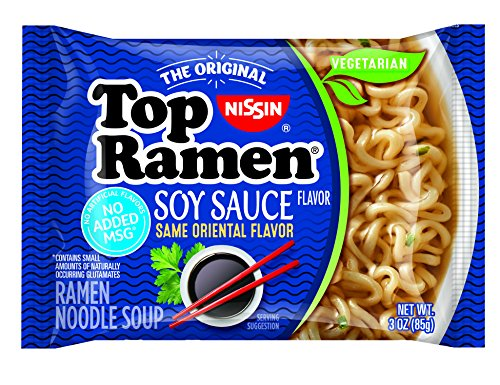 Nissin Top Ramen Soy Sauce, 3 Ounce (Pack of 24)