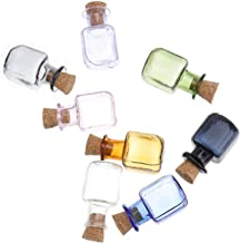 Hemobllo 8pcs Cork Stoppers Glass Bottles Vials Jars Mini Wishing Bottle Wedding Favors Storage Bottle for DIY Art Crafts