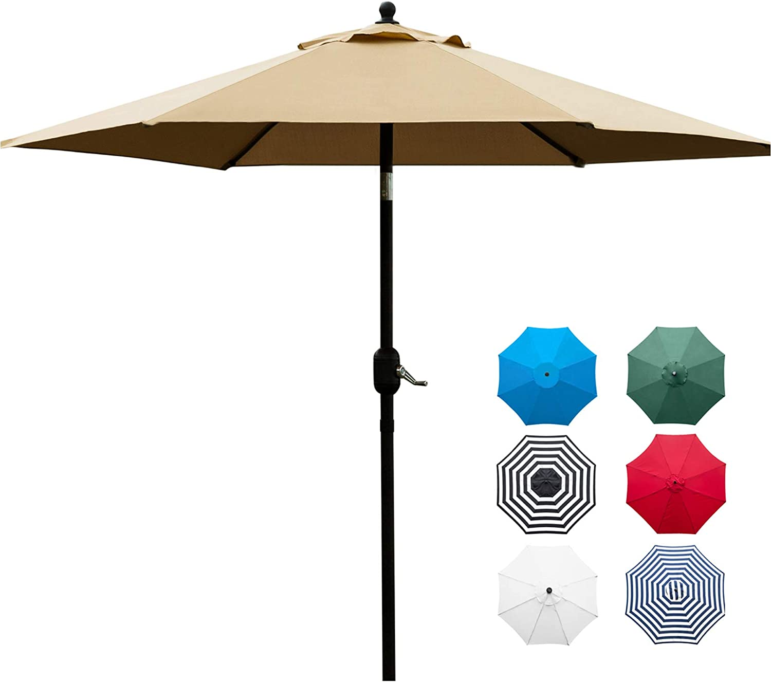 Sunnyglade 7.5' Patio Umbrella Max 43% OFF Table Market wit sold out Outdoor