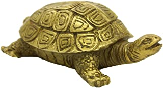 Chinese Handmade Brass Turtle Figure Home Decorative Ornament Collectible