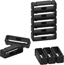 10-Pack Replacement Fastener Ring for Garmin Fenix 3/Fenix 3 HR/Fenix 3 Sapphire/Fenix 5X/Fenix 5X Plus/Fenix 6X/Descent Mk1/Quatix 3/Tactix Bravo Silicone Band Keeper Security Loop (Black-26mm)