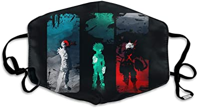 Washeable Reusable Mouth Mask Unisex My Hero Academia for Kids Teens Men Women Lovers