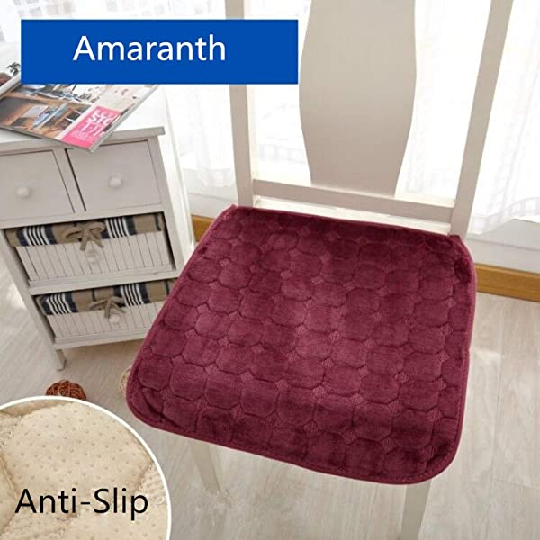 Square Anti Slip Flannel Chair Cushion Comfortable Seat Cushion Sofa Home Decor Car Office Chair Pads With Ties