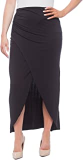 10517ca3b8 New York & Company Women's Wrap Style Maxi Skirt