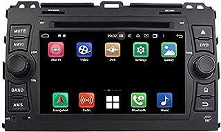 Android 9.0 Radio de automóvil Unidad de cabeza de 7 pulgadas para Toyota Land Cruiser Prado 120 2003-2009 Navegación GPS ...