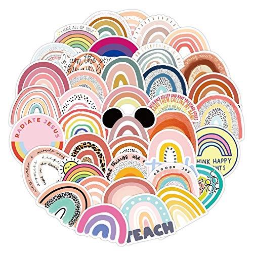 ZZHH 50 Uds Colorido Puente arcoíris pequeño Fresco Personalidad Graffiti Pegatinas Equipaje teléfono móvil Casco para niños Pegatinas de Ordenador