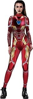 Women Captain Marvel Halloween Cosplay Costume Superhero 3D Jumpsuit Bodysuit