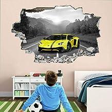 Tatuaje de pared en 416D Carro agujero de la pared Sticker Pegatina Adhesivo Calcomanía Decoración para dormitorio o la sa...