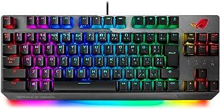 ASUS ゲーミングキーボード X802 STRIX SCOPE TKL/SV/JP FPS向け クイックトグルスイッチ 【銀軸】
