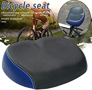 JKOWANS Bicycle Seats for Comfort - Wide Bike Seat - Oversized Waterproof Bike Saddle Universal Noseless Bike Seat Soft Pad Cycling Cushion for Exercise Women & Men Indoor and Outdoor Bike seat