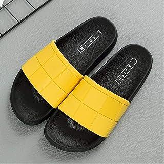 Men'S Slippers Mosaic Plaid Slippers Women Summer Men'S Couple Beach Shoes Home
