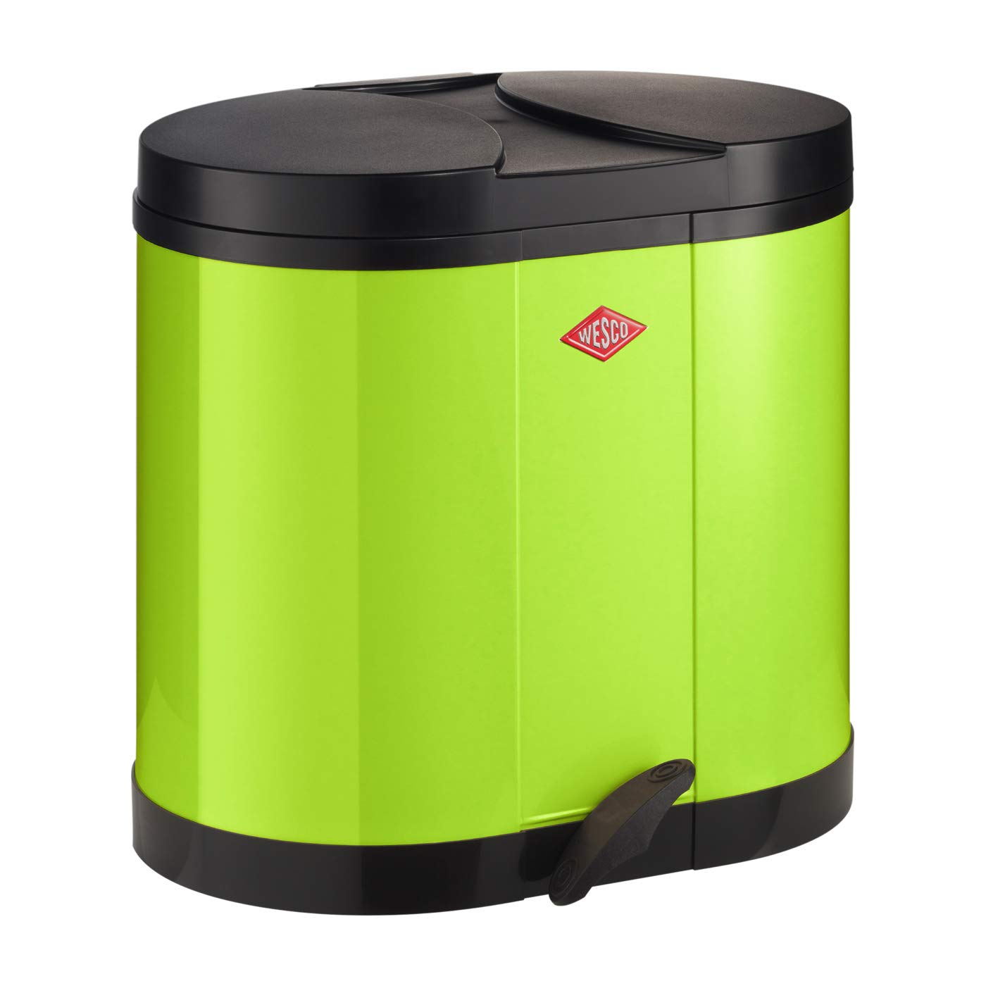 Wesco Eco Collector Overseas parallel import regular item 170 Waste Dustbin quality assurance Lime Pedal Bin Gre