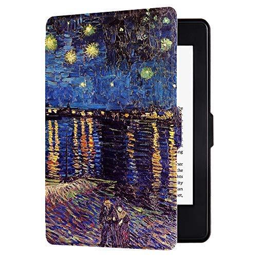 HUASIRU Gemälde Hülle Schutzhülle für Kindle Paperwhite - Nicht geeignet für Modelle der 10. Generation (2018), Sternenklare Nacht