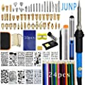 115PCS Wood Burning Kit, Junp Wood Burning Tool with Adjustable Temperature Soldering Iron, Professional Pyrography Kit for Embossing Carving Soldering Tips