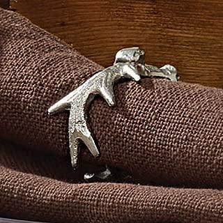 Silver Antler Napkin Ring - Cabin Dining Decor