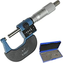 """Anytime Tools 1"""" Digital Outside Micrometer Digit Counter Carbide Tips 0.0001"""""""