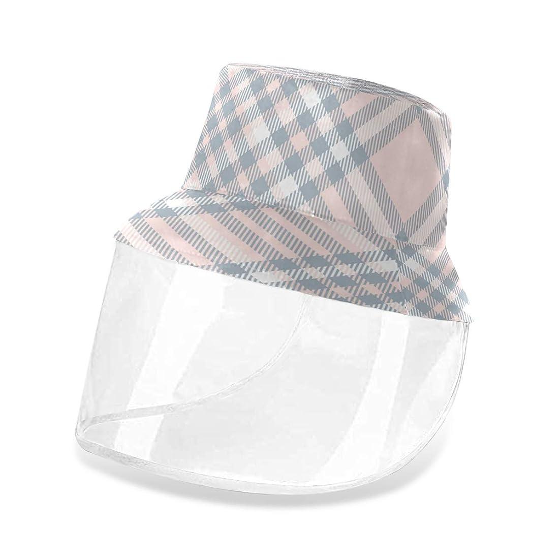 ワックス解任不忠GORIRA サンバイザー 漁師帽 ハット チェック柄 シンプル uvカット 紫外線対策 花粉症対策 防風 防塵 汚染対策 顔全体保護 取り外し可能 アウトドア 男女兼用