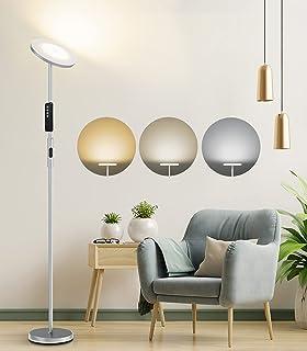 Anten Lampadaire Sur Pied 20W, Lampadaire Droit LED Salon Dimmable 3000-5000K Lumière à Volonté, Télécommande&Tacile, Mode...