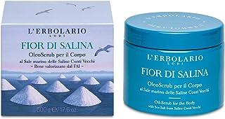 L'Erbolario Body Oil-Scrub - Fior Di Salina - Water, Citrus Scent - Sea Salt Scrub from Saline Conti Vecchi with Sweet Alm...