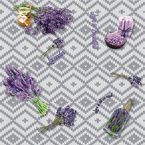 Home Direct Mantel de Hule, Rectangular 140 x 200cm Lavanda