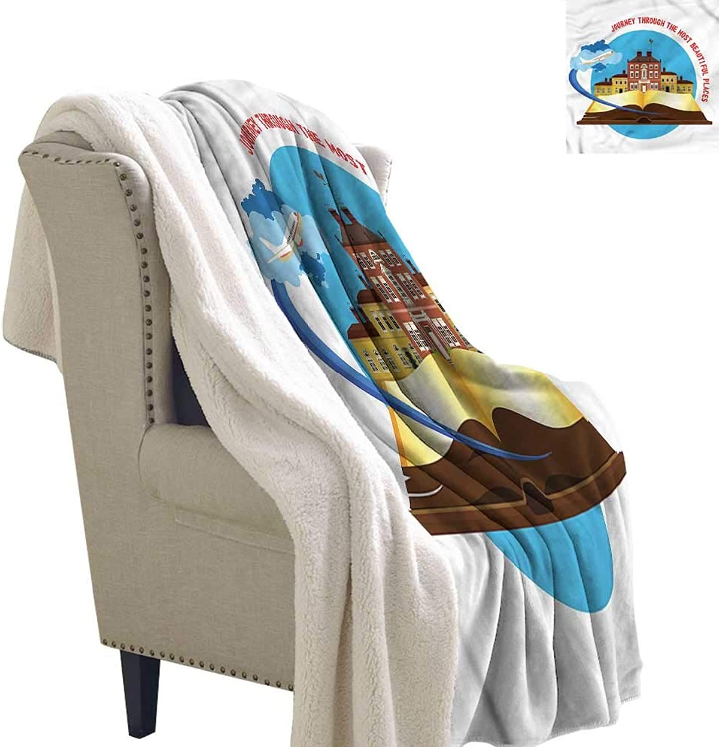 AndyTours Winter Quilt Travel Airplane Taking Off Upgraded Thick Lazy Blanket Blanket W59 x L31