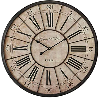Clock Classic Traditional Wall 60cm Industrial American Wall Fashion Creative Roman Digital for Home Bar Cafe
