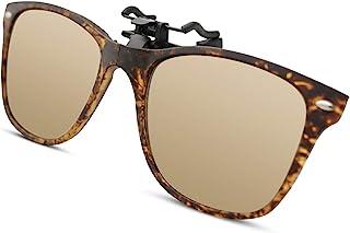 Bauhaus Polarized Clip on Sunglasses for Men & Women UV Protection with Flip Up Anti Glare Fishing Driving Glasses