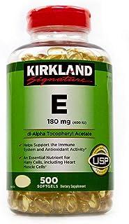 Kirkland Signatura Botella Vitaminas E 400 I.U. 500 unidades