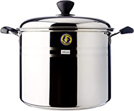 Dolphin Collection Stainless Steel Stock Pot,Sandwich Base, 26cm