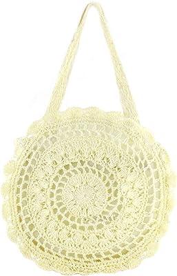 FiveloveTwo Mode Damen Strohtasche Strandtasche Umhängetasche Outdoor Handtasche Schultertasche Shopper Henkeltasche Clutches Tragetaschen Geldbörsen Taschen