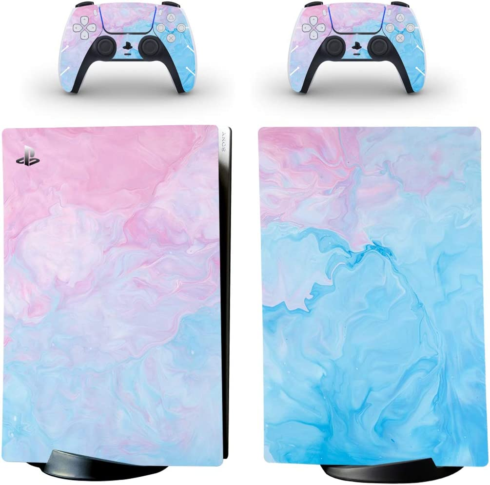 0495 DolDer PS5 Skin Sticker//Aufkleber Folie sch/ützende Haut Schale f/ür Sony PS5 Konsole und 2 Dualshock Controller