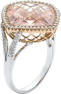 Goddesslili Pink Diamond Rings for Women Girlfriend Girls Champagne Hollow Luxurious Elegant Large Vintage Wedding Engagement Anniversary Simple Jewelry Gift Under 5 Dollars