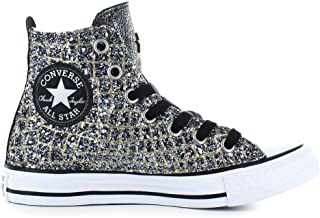 aad7570c6ad33 Converse Chaussures Femme Baskets All Star Croco Or Argent Automne-Hiver  2019