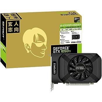 玄人志向 NVIDIA GeForce GTX 1050Ti 搭載 グラフィックボード 4GB シングルファン GF-GTX1050Ti-E4GB/SF/P