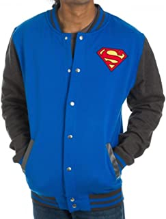 Superman Symbol Letterman Jacket