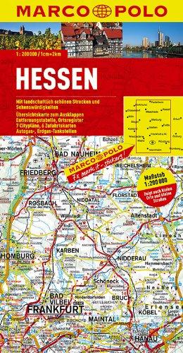 MARCO POLO Karte Hessen 1:200.000 (MARCO POLO Karten 1:200.000)