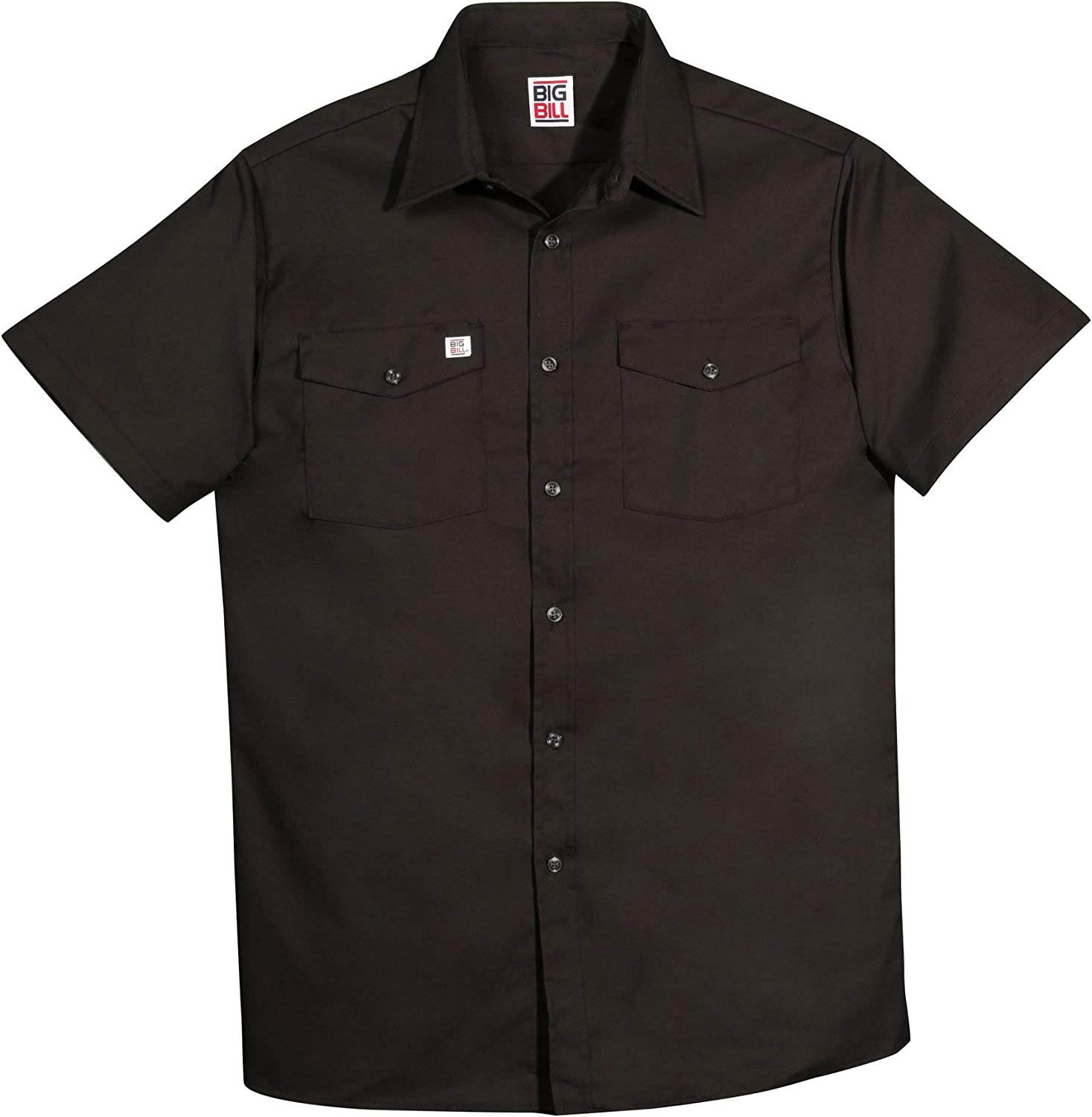 Regular and Big and Tall Short Sleeve Premium Work Shirts to 5XB and 5XT in 5 Colors Made in Canada