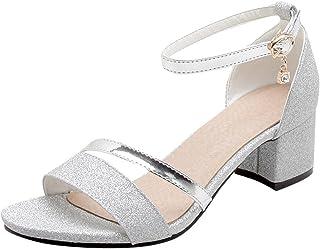 official photos b9dfd f7be4 Suchergebnis auf Amazon.de für: sandaletten silber strass ...