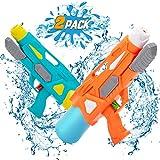 NextX 2 Pack Pistolas de Agua Chorro de Agua Squirt Gun, 600ML Soaker Guns para Niños Años Adultos, Juguetes de Verano Caliente para Piscina de Playa, para con Alcance Largo Rango de 10 Metros