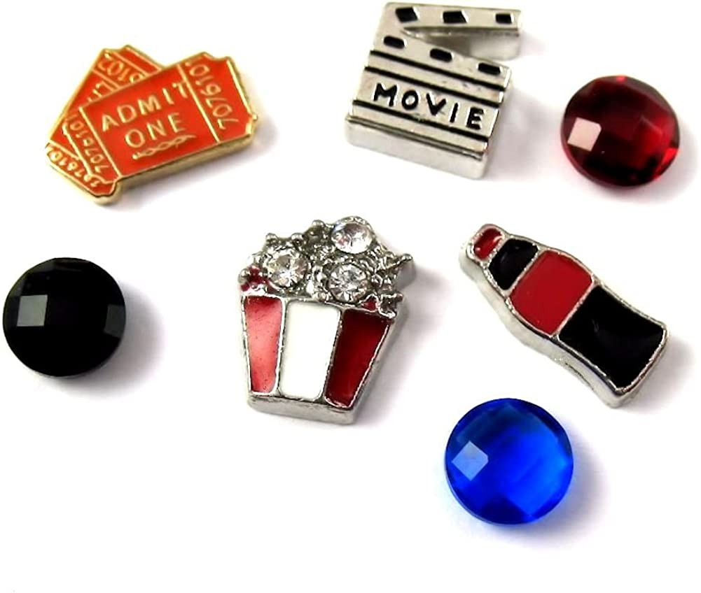 FCL Designs Max 57% OFF - Movie Lover Theme Time sale for Combination Charms Floating