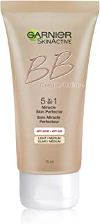 Garnier SkinActive BB Cream Anti-Aging Face Moisturizer, Light/Medium, 2.5 Ounce