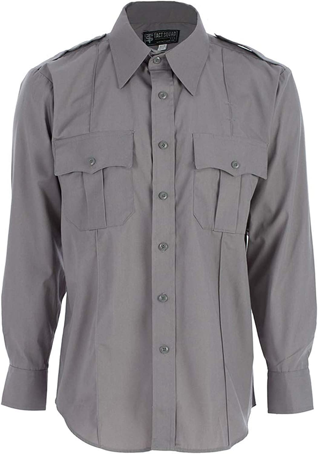 Tact New products, world's highest quality popular! Squad Men's Polyester Cotton Miami Mall Shirt Long Sleeve Nickel Gray