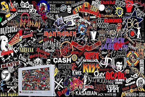 Top Rock Band Logo 500 Piezas Rompecabezas de Madera Colección de Arte 30:20 Pulgadas Decoración del hogar