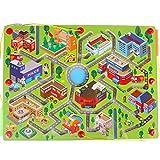 Gobus Holz perlen Labyrinth Stift Fahren Perle Labyrinth interaktives Labyrinth Puzzle Spielzeug Kinder pädagogisches Brettspiel (Grüner Stadtverkehr) -